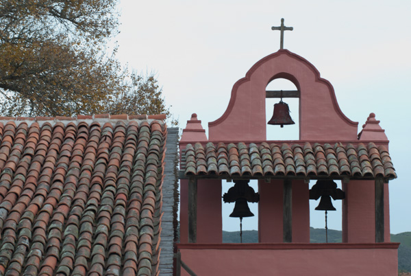 La Purisma Mission Roof and Bells