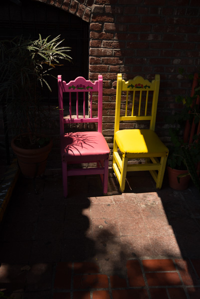 Colorful Chairs at Olvera Street