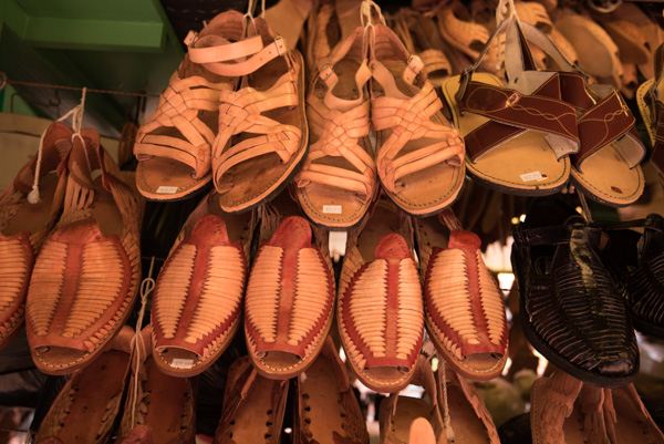 Leather Sandals at Olvera Street